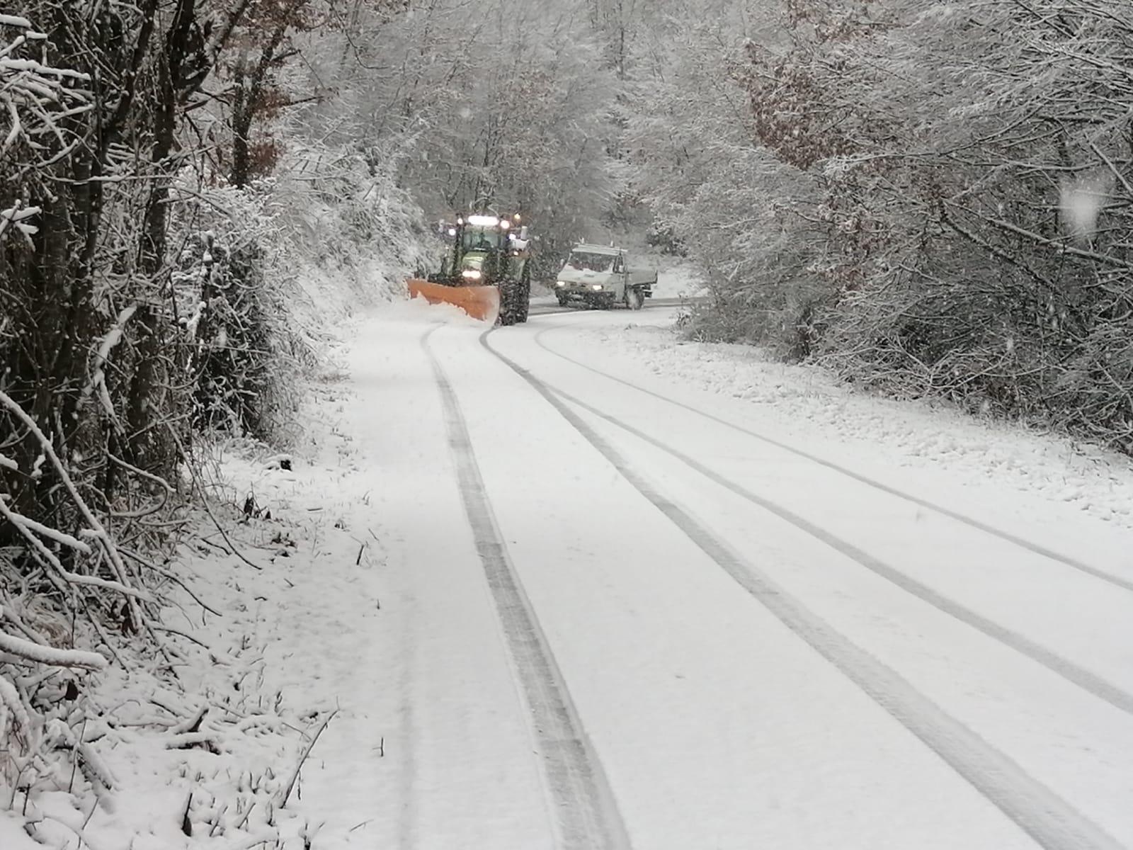 Viabilità – Valnerina, nevica abbondantemente da stamattina