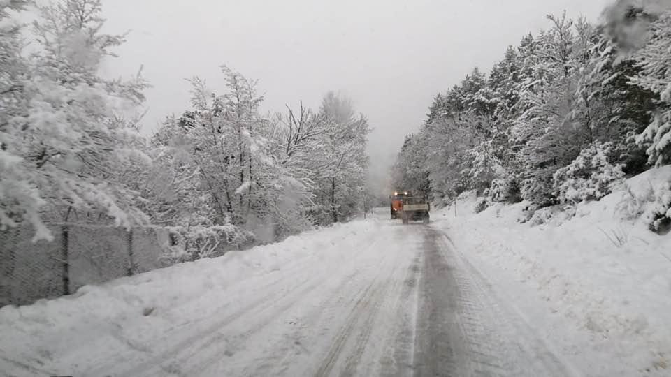 Monteleone di Spoleto – Situazione neve – Scuola chiusa oggi e forse anche nei prossimi giorni