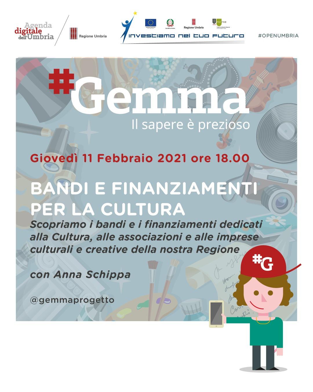 Progetto #Gemma – Alla scoperta di bandi e nuove opportunità per la cultura