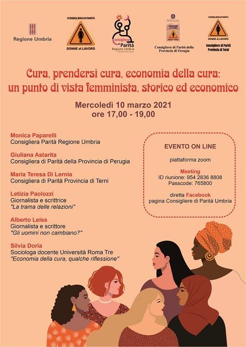 """Seminario online – """"Cura, prendersi cura, economia della cura, un punto di vista femminista, storico ed economico"""""""