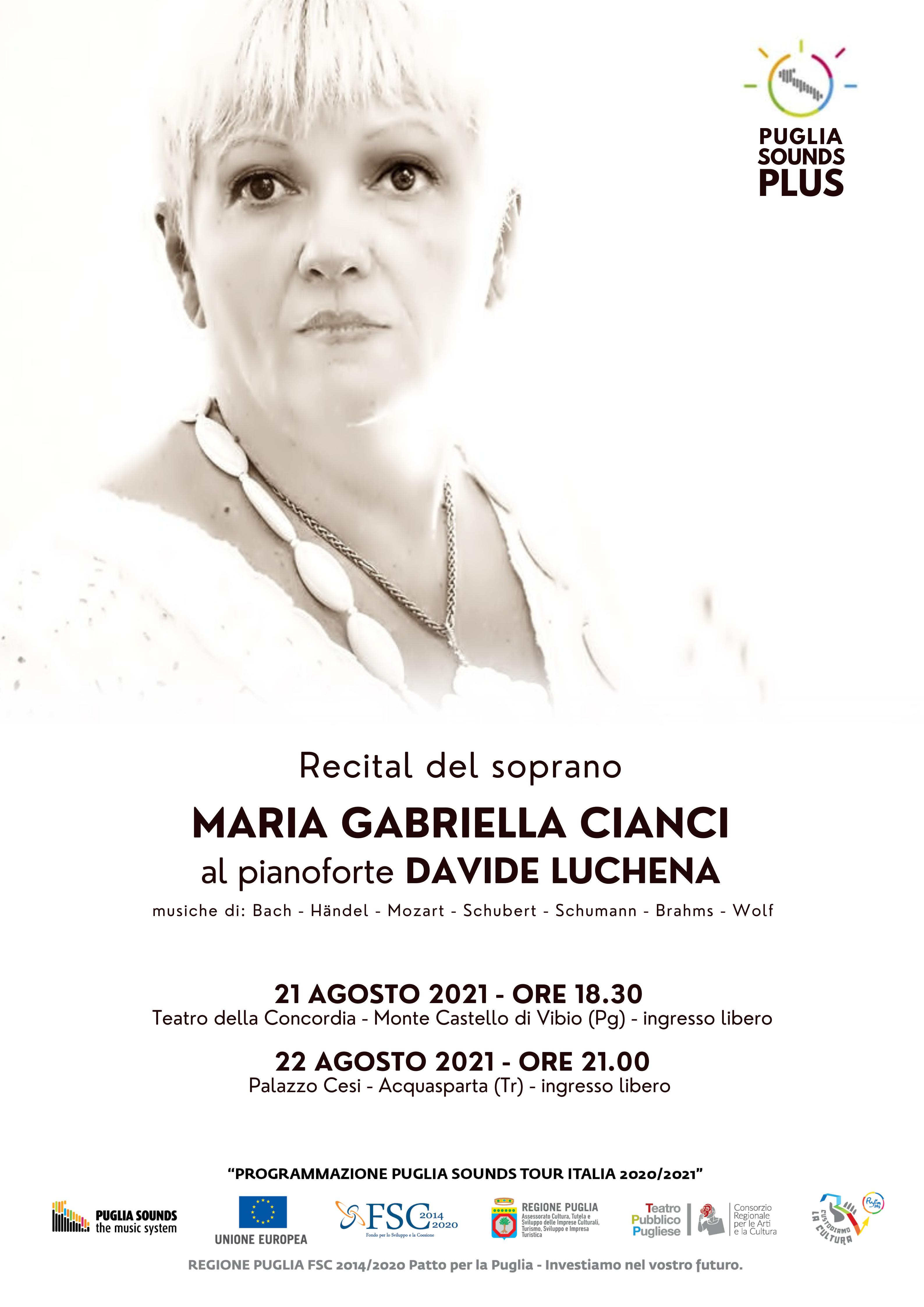 Monte Castello di Vibio – Il soprano  Maria Gabriella Cianci in concerto al teatro della Concordia e Palazzo Cesi